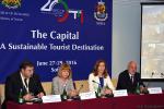 Министърът на туризма Ангелкова и кметът на гр. София Йорданка Фандъкова по време на откриването на международна конференция за развитието на туризма в столиците на страните от ПСЮИЕ