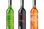 Графичен дизайн на етикети за бяло и червено вино